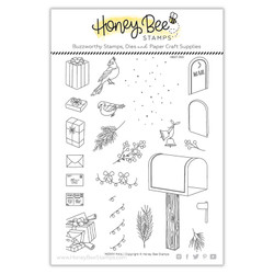 Merry Mail, Honey Bee Clear Stamps -