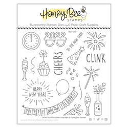 New Year Cheers, Honey Bee Clear Stamps -