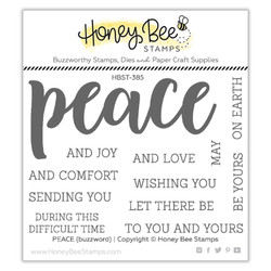 Peace, Honey Bee Clear Stamps -