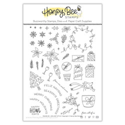 Riding By? Holiday Style, Honey Bee Clear Stamps -