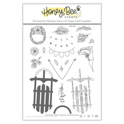 Sleigh Bells Ring, Honey Bee Clear Stamps -