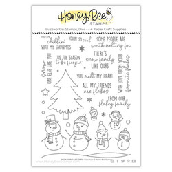 Snow Family Like Ours, Honey Bee Clear Stamps -