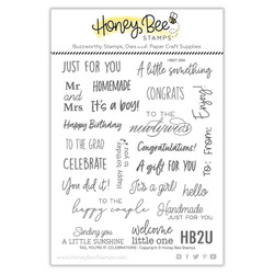 Tag, You're It: Celebrations, Honey Bee Clear Stamps -