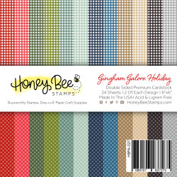 Gingham Galore: Holiday, Honey Bee 6 X 6 Paper Pad -