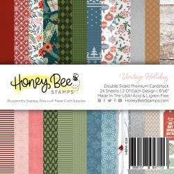 Vintage Holiday, Honey Bee 6 X 6 Paper Pad -