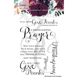 Thanksgiving Prayer, Colorado Craft Company Clear Stamps -