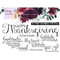 Gratitude Slimline, Colorado Craft Company Clear Stamps -