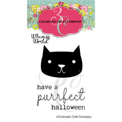 Purrfect Halloween Mini, Colorado Craft Company Clear Stamps -