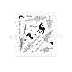 Typography Pine Trees (W0038), Alexandra Renke Clear Stamps -