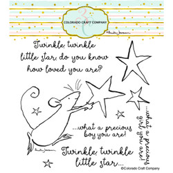 Twinkle Little Star by Anita Jeram, Colorado Craft Company Clear Stamps -