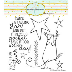 Falling Star by Anita Jeram, Colorado Craft Company Clear Stamps -