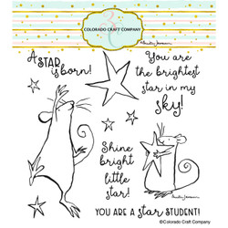 Star is Born by Anita Jeram, Colorado Craft Company Clear Stamps -