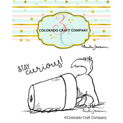 Stay Curious Mini by Anita Jeram, Colorado Craft Company Clear Stamps -