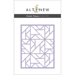 Simple Shapes Cover, Altenew Dies -