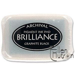 Brilliance Ink Pad, Graphite Black -