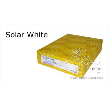 Solar White - 250 Sheet Ream, Neenah Classic Crest Cardstock -
