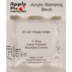 Clear Acrylic Block, 2.25x2.25 Square w/ Finger Grips -