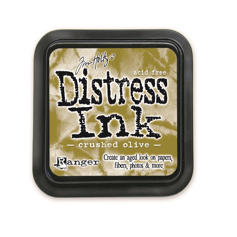 Crushed Olive, Ranger Distress Ink Pad -
