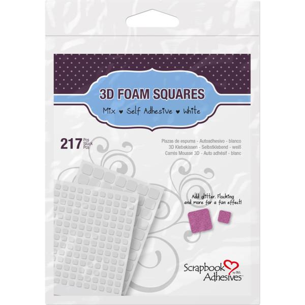 Scrapbook Adhesives 3-D Foam Squares, Mixed -