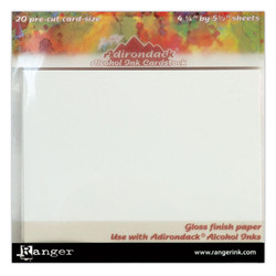Cardstock, 4.25x5.5, Ranger Alcohol Ink -