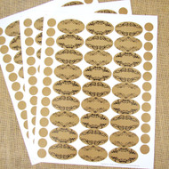 81 Blank Apothecary Poly Weatherproof Labels Plus 81 Top Rounds for Essential Oil Products