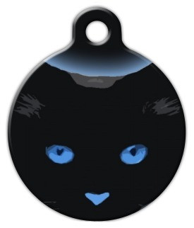 Blue Boo Kitty Cat ID Tag