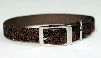 Chocolate Kisses Glitter Glamour Dog Collar