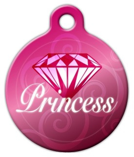 Diamond Princess Dog ID Tag-Cat ID Tag