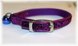Purple Passion Glitter Glamour Cat Collar