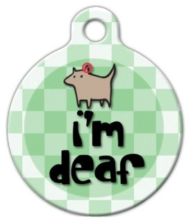 Im Deaf Dog ID Tag-Cat ID Tag