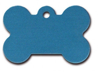 Large Blue Bone Dog ID Tag