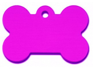 Large Purple Bone Dog ID Tag