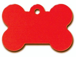 Large Red Bone Dog ID Tag