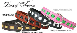 Luxury Dreamweavers Leather Dog Collars