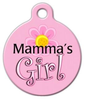 Mamma's Girl Dog ID Tag-Cat ID Tag
