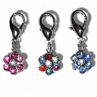 Rhinestone Flower Charm for Pet Collars