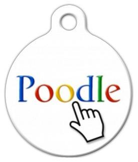 Poodle Dog ID Tag