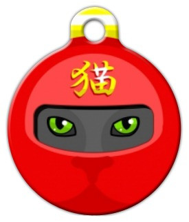 Red Ninja Cat Cat ID Tag-Dog ID Tag