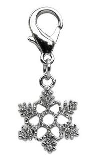 Rhinestone Christmas Snowflake Pet Collar Charm