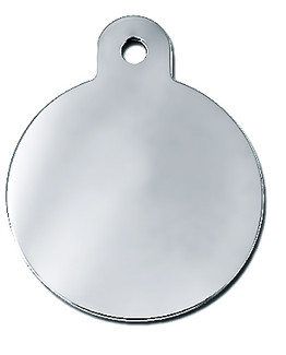 Large Gold/Silver Dog ID Tag