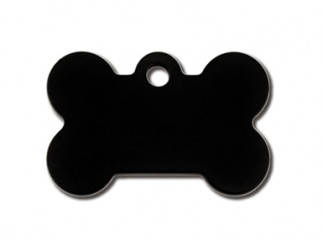 Small Black Bone Cat ID Tag-Dog ID Tag