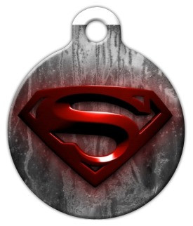 Super Dog ID Tag printed with your pets vital information on the back.