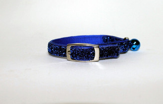 Blue Bayou Glitter Glamour Cat Collar