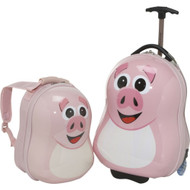 Happy Travel Pals Kids Animal Luggage and Backpack Piggy