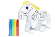 Color Me Pal's DIY Washable and Reusable Coloring Horse - Child Developmental Plush Toy