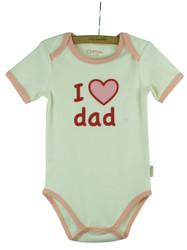 "Eotton Certified Organic Cotton ""I Love Dad""  Bodysuit"