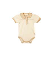 Certified Organic Cotton Bodysuit w/ Collar