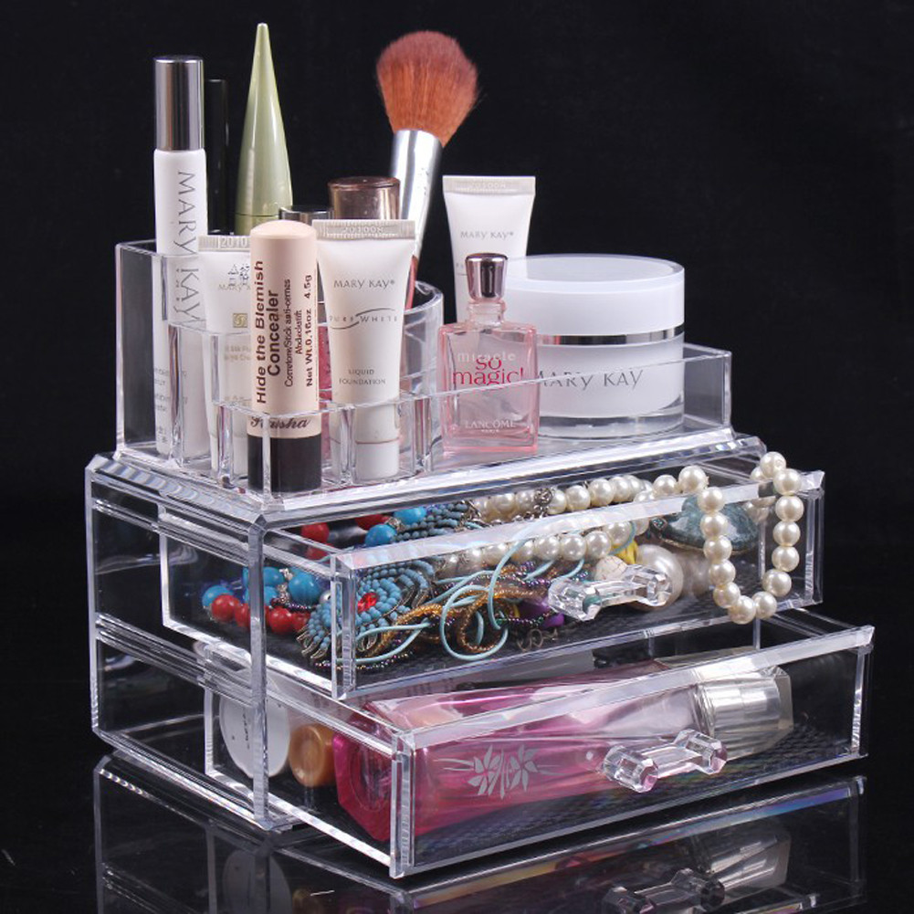 Buy Glam Caddy Holder Box Jewelry Cosmetic Acrylic Makeup