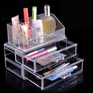 New Cosmetic Makeup Clear Acyrlic Jewelry Organizer Holder Box Storage New Fashion Powder Storage Box Dressing Case