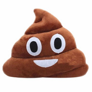 Emoticon Emoji Brown Triangle Stuffed Pillow Cushion Plush Doll Toy Poop
